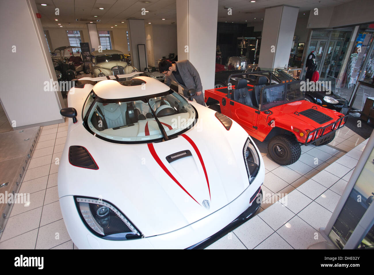 Bob Forstner luxury sports car show room on Park Lane, London ...