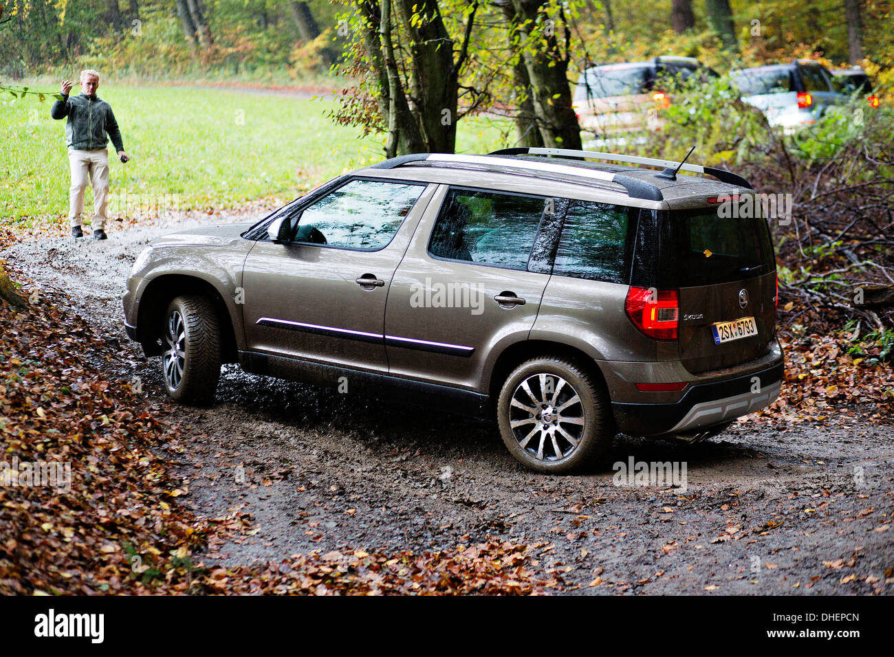 skoda yeti outdoor suv modernised stock photo royalty. Black Bedroom Furniture Sets. Home Design Ideas