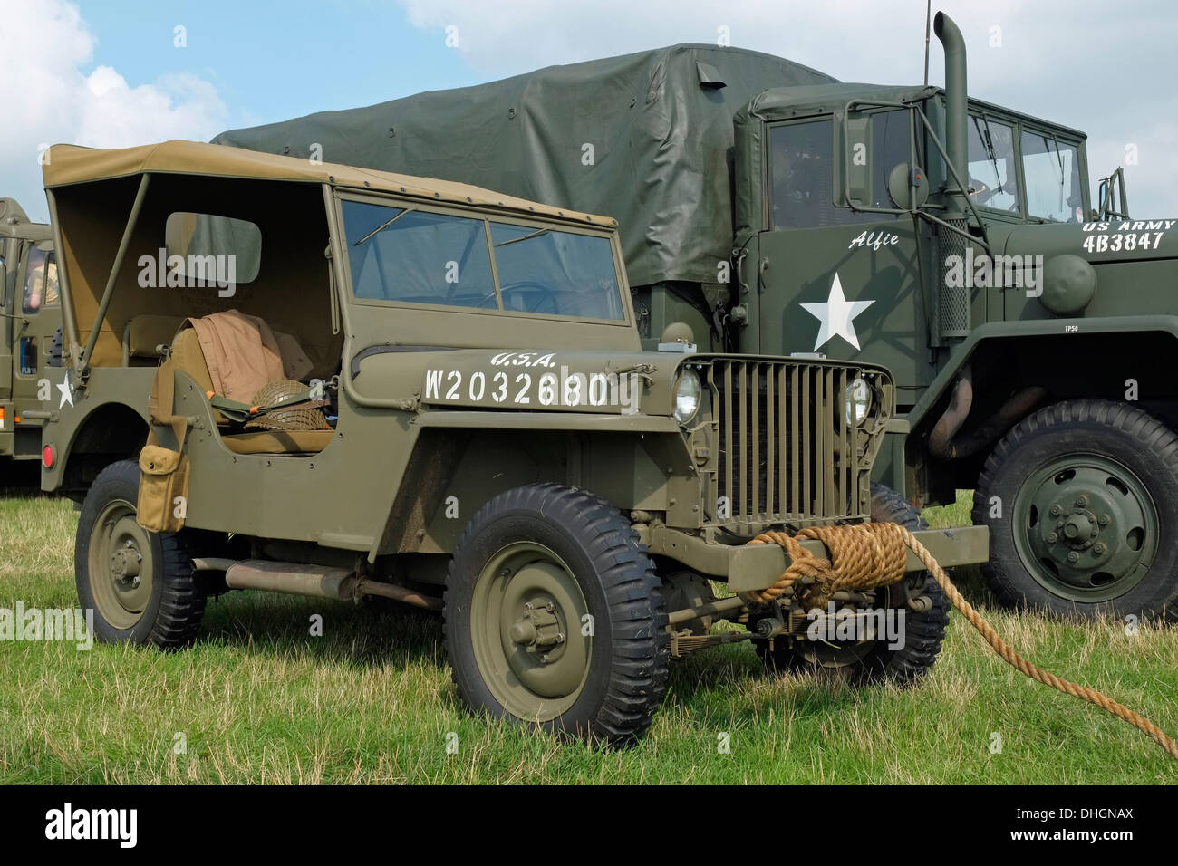 A 1941 willys mb slat grill jeep powered by a 2 2 litre go devil