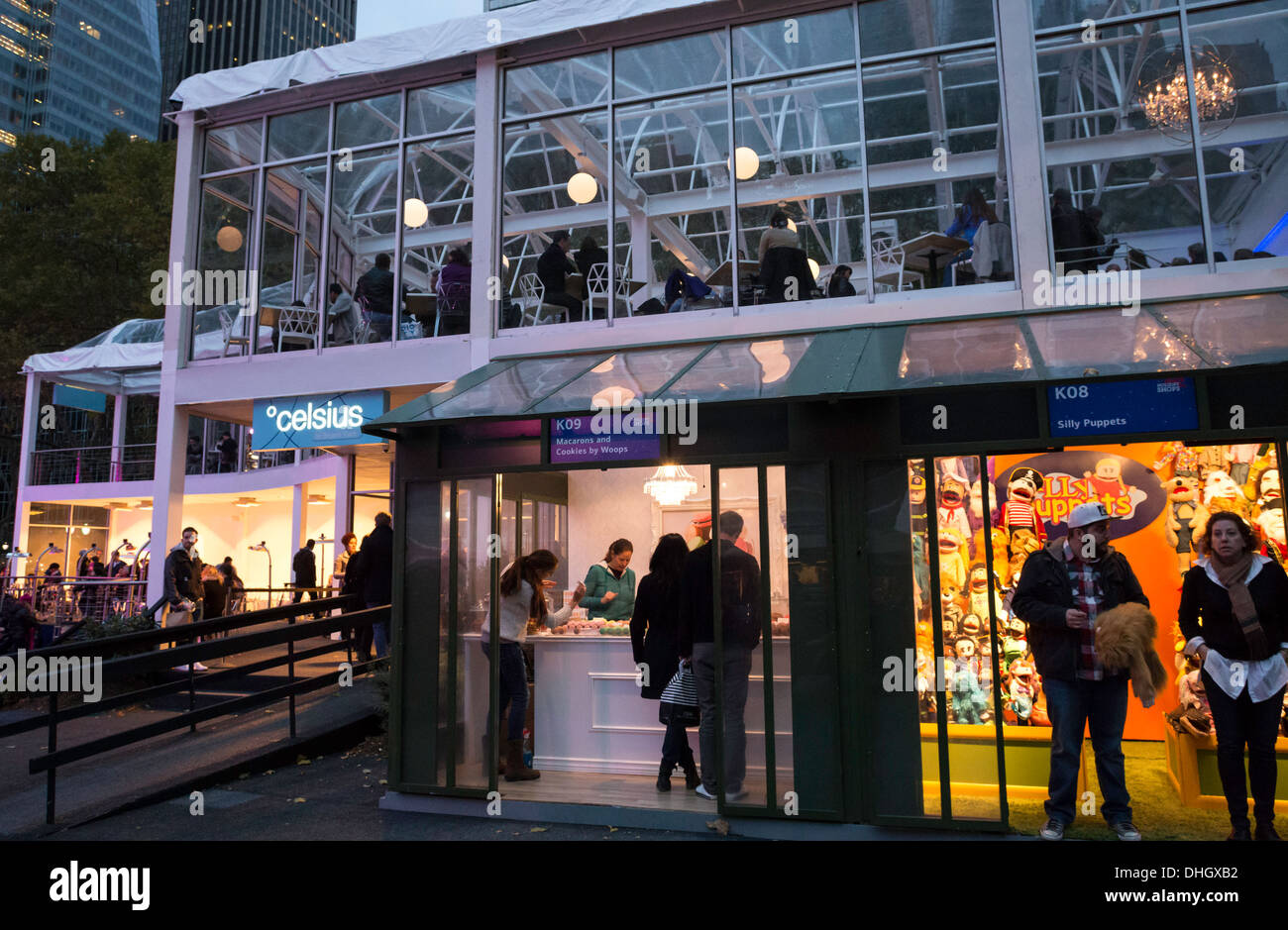 Celsius Restaurant In Bank Of America Winter Village At Bryant Park Stock Photo Royalty Free