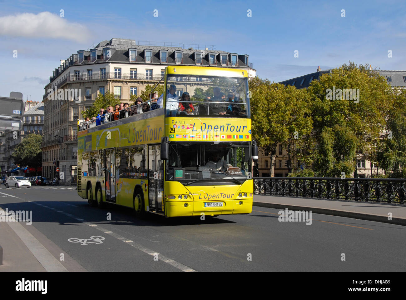 open top bus tour paris france stock photo royalty free image 62483549 alamy. Black Bedroom Furniture Sets. Home Design Ideas