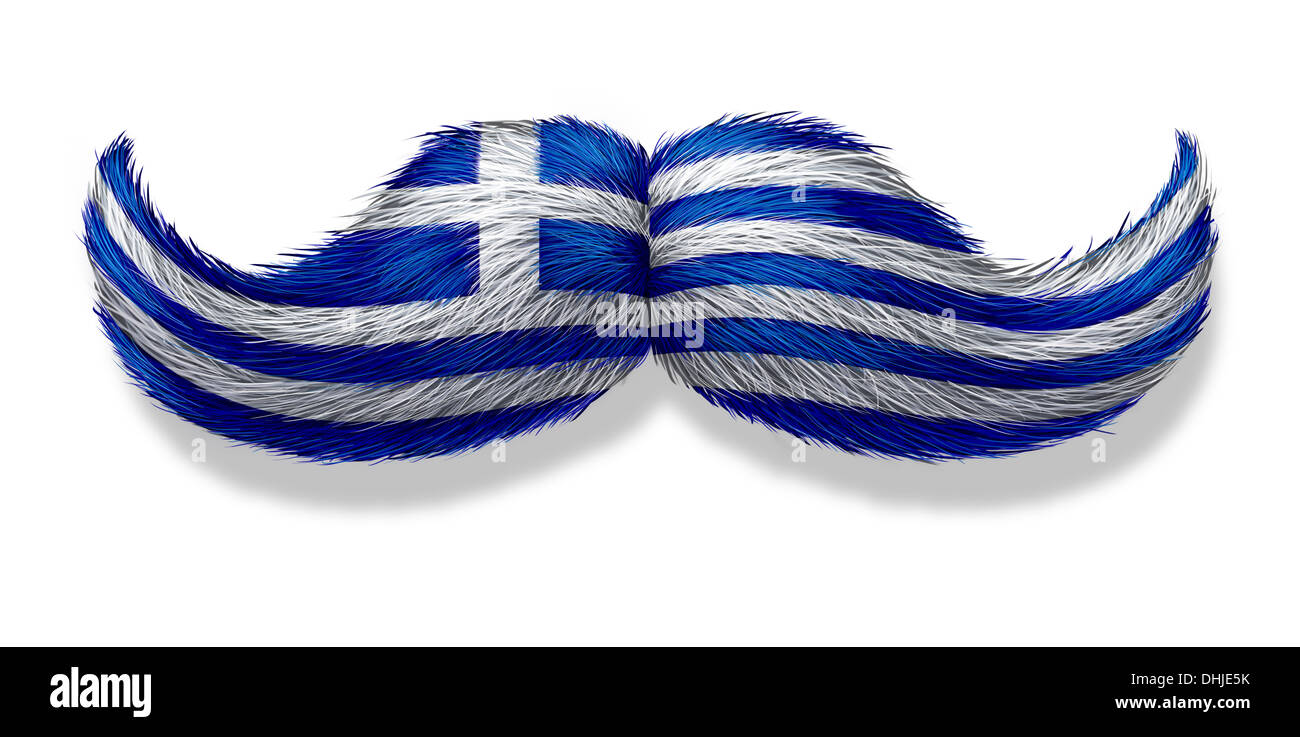 Greek mustache symbol with the flag of greece as an icon of a stock greek mustache symbol with the flag of greece as an icon of a european macho male culture or concept for a mediterranean restaurant and hellenic tradition biocorpaavc Gallery