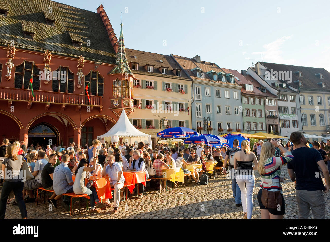 people at the wine festival july 2012 freiburg im breisgau black stock photo royalty free. Black Bedroom Furniture Sets. Home Design Ideas