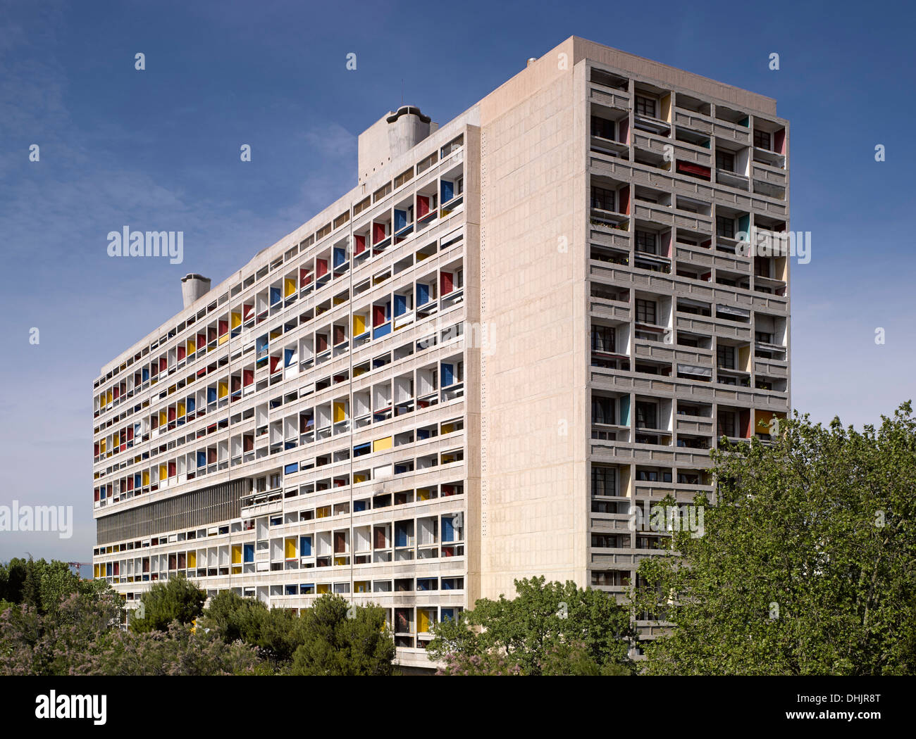 unite d 39 habitation marseille france architect le corbusier 1952 stock photo 62493672 alamy. Black Bedroom Furniture Sets. Home Design Ideas