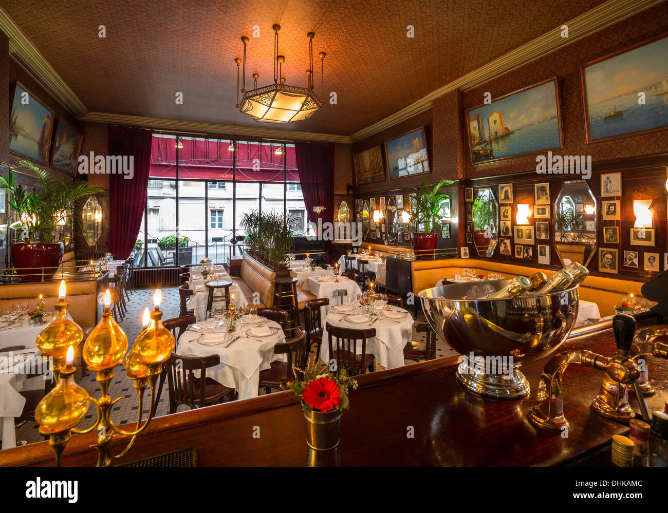 at vichy the stylish art deco brasserie of the casino run by mr and stock photo royalty free. Black Bedroom Furniture Sets. Home Design Ideas