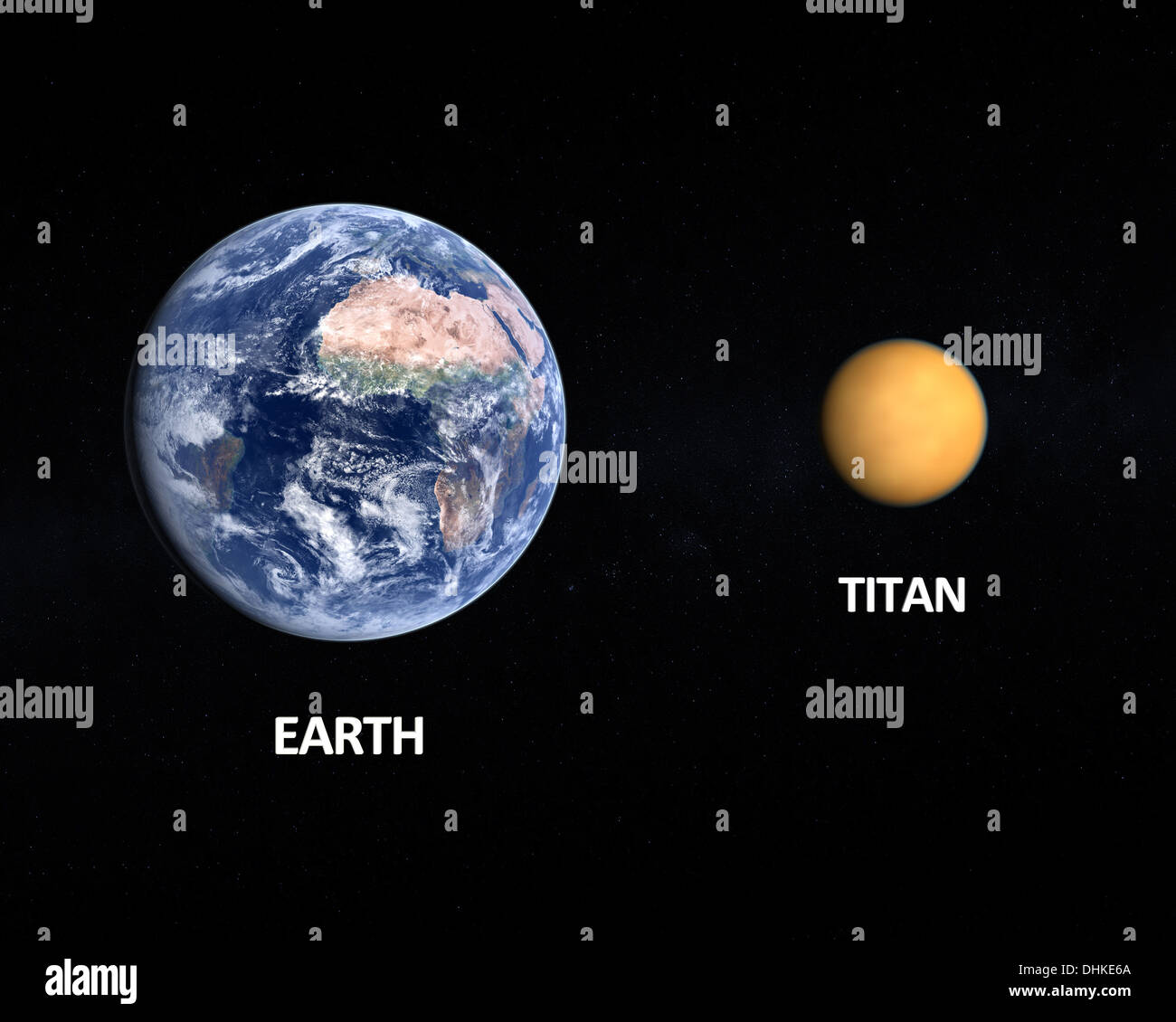 A comparison between the planet Earth and the Saturn Moon ...