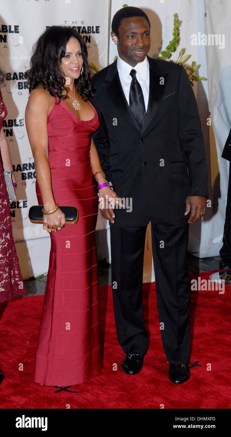 Avery Johnson and Cassandra Johnson 138th Kentucky Derby Stock