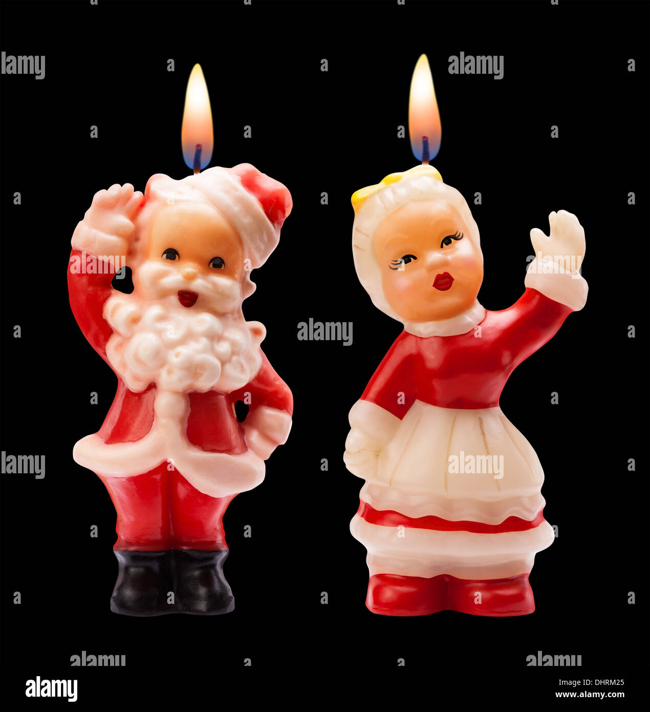 Vintage Christmas Candles from the 1950's. Santa Claus and Wife ...