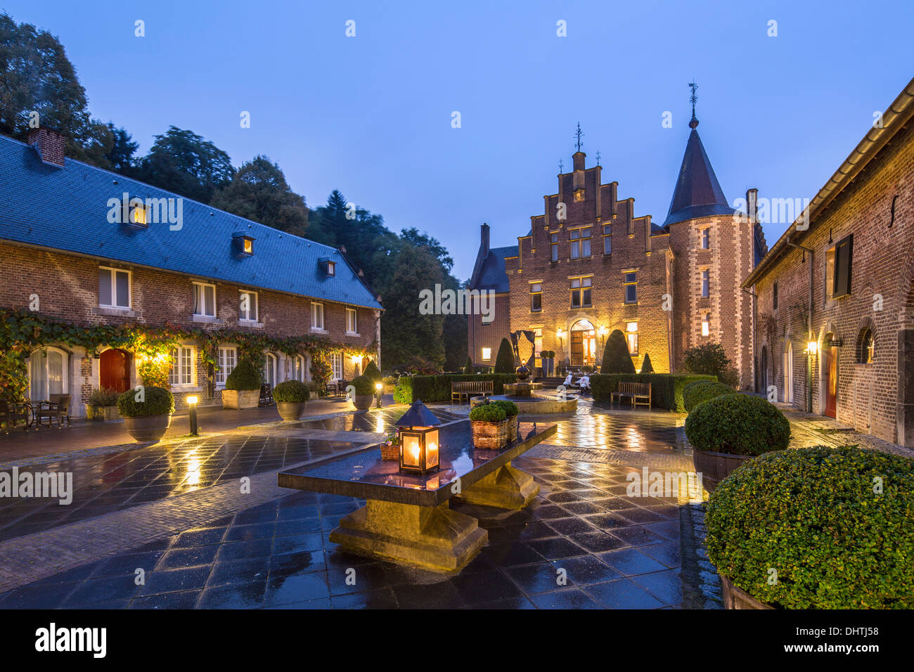 netherlands heerlen castle called terworm now hotel and stock photo royalty free image. Black Bedroom Furniture Sets. Home Design Ideas