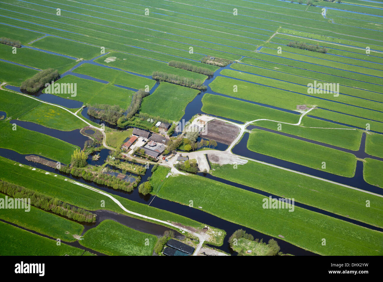 Netherlands nieuwkoop farms farm land in polder aerial for Farm house netherlands