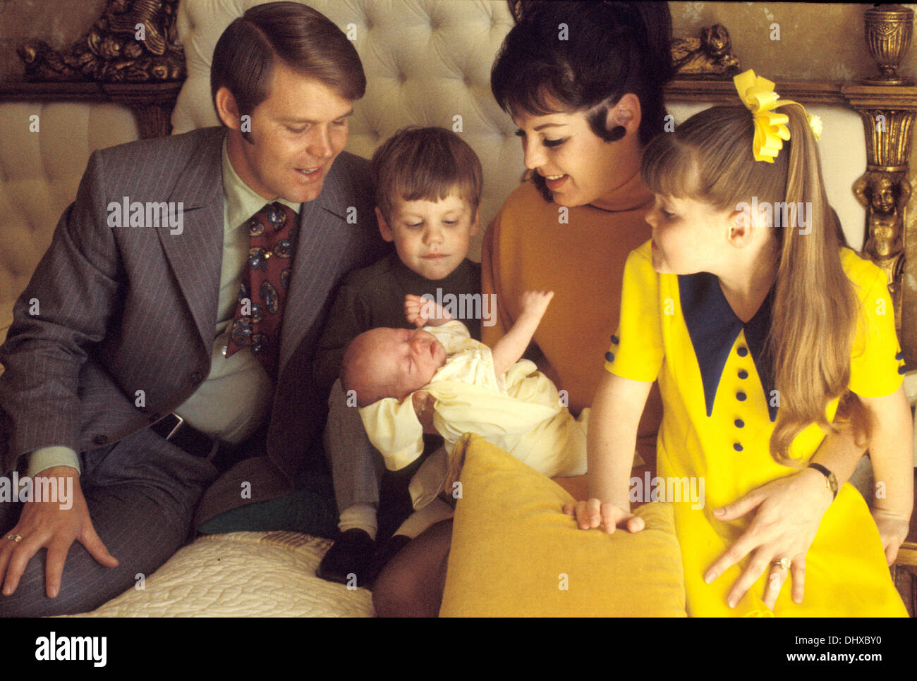 Former husband and wife: Glen Campbell and Billie Jean Nunley with their children