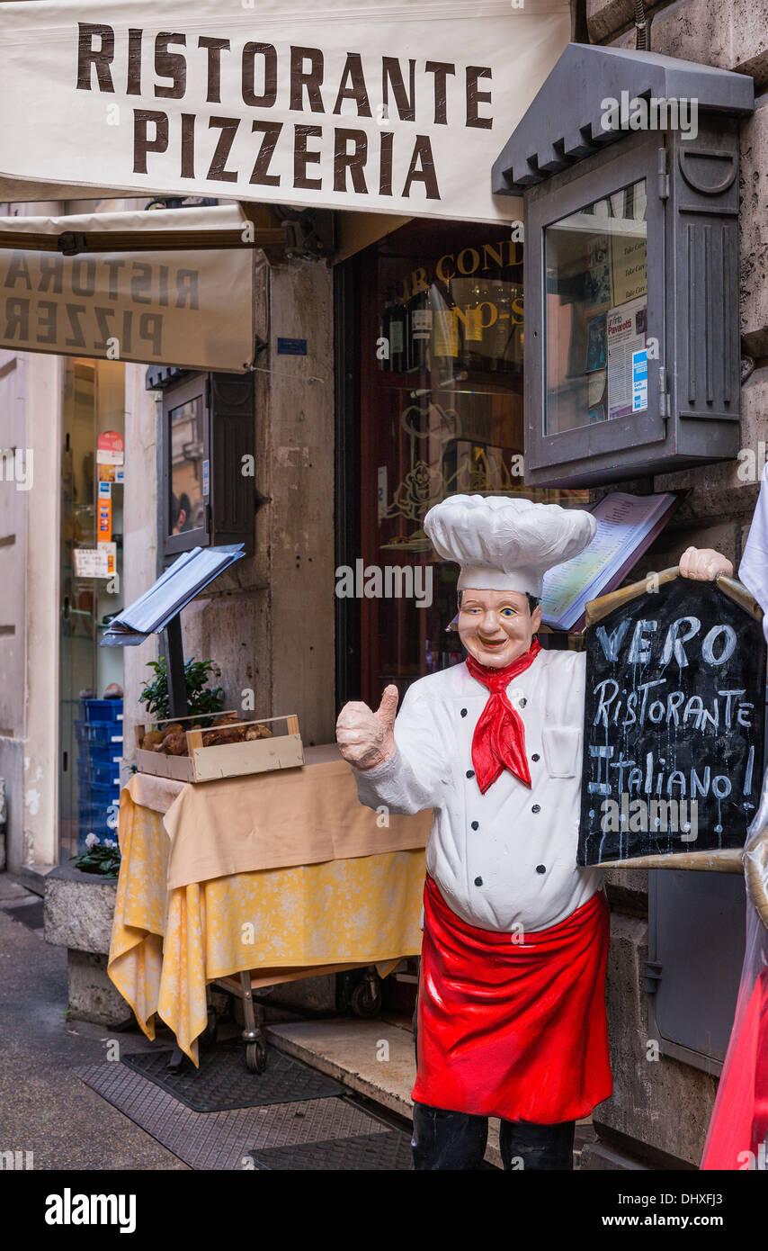 Italian restaurant exterior - Exterior Of An Italian Restaurant Rome Italy