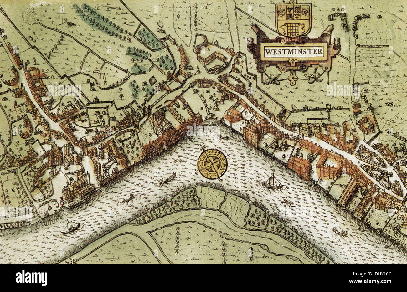 Old Map Of Westminster England By John Speed Stock Photo - Westminster map
