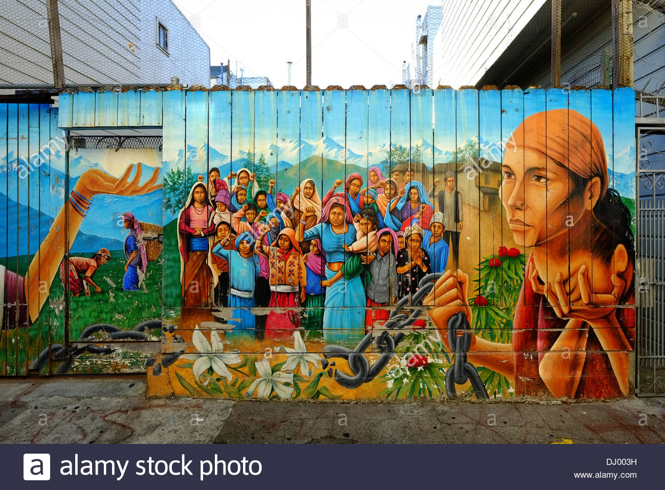 Photo of san francisco mural in the mission district for Definition of mural