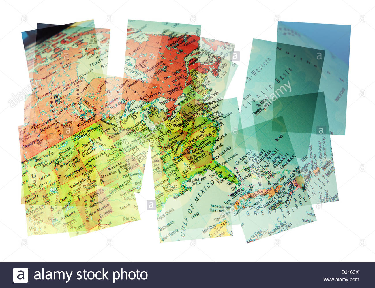 Usa Map Collage Stock Photo Royalty Free Image Alamy - Us map collage