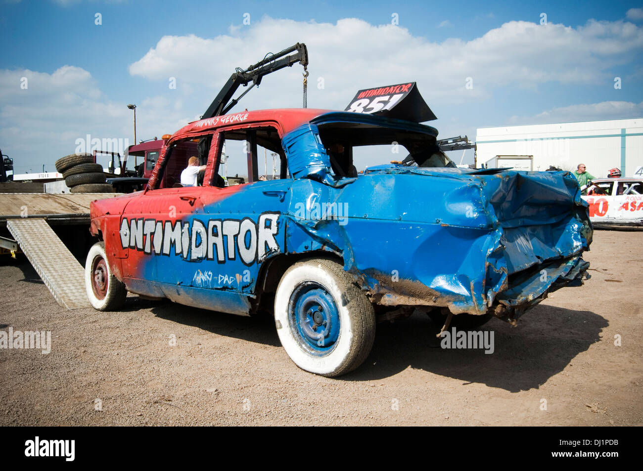 Banger racing cars Stock Photo: 59960377 - Alamy