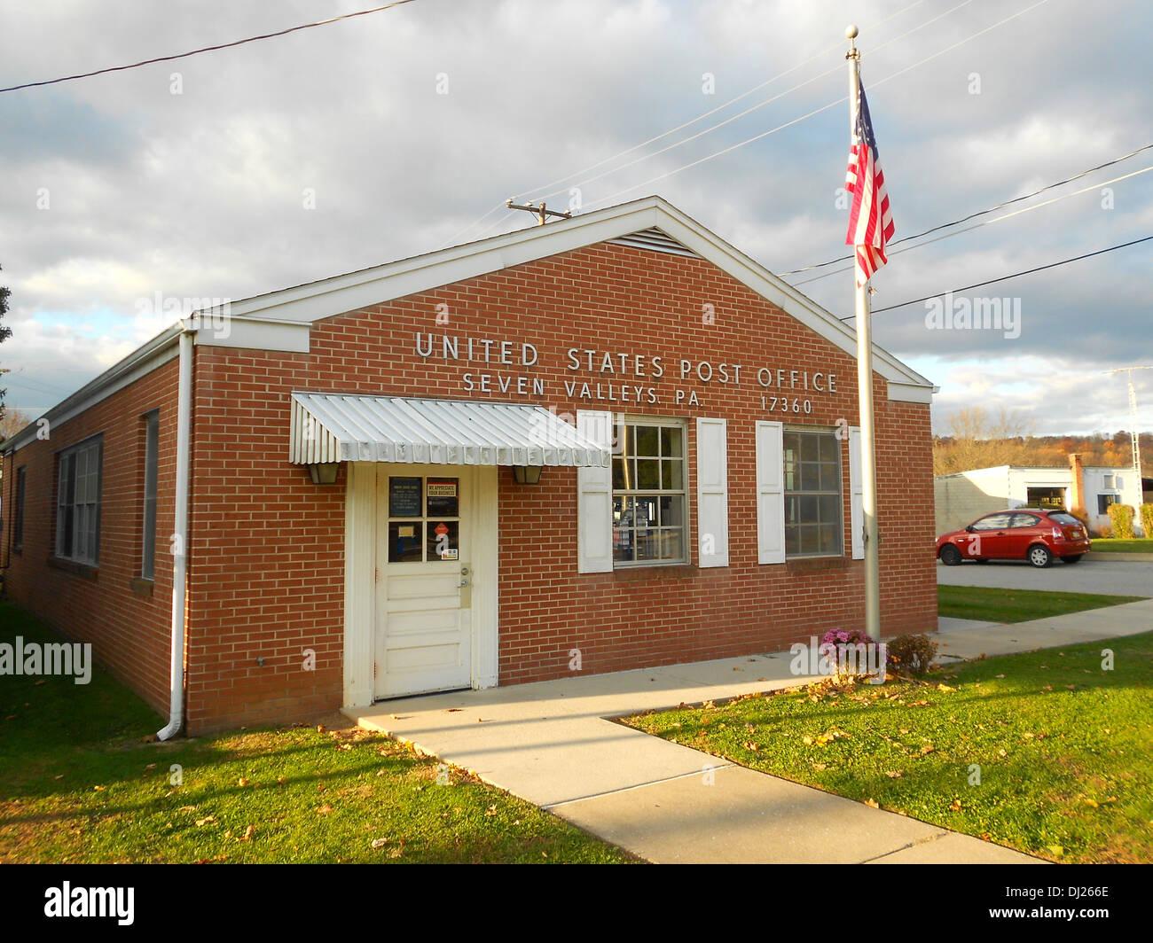 US Post Office In Seven Valleys York County Pennsylvania Zip - Us counties by zip