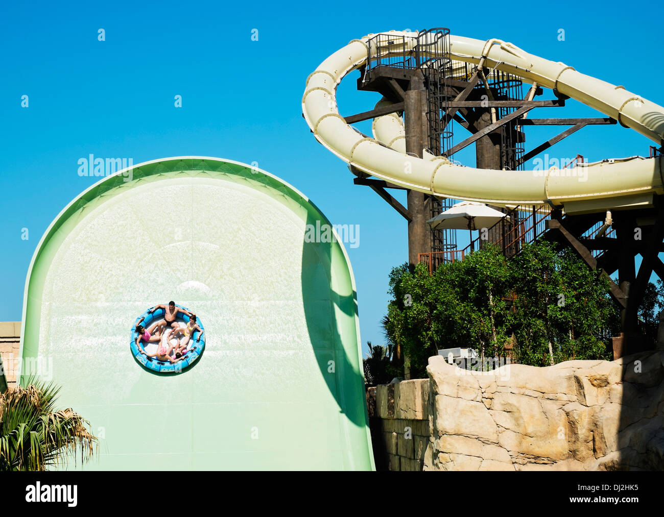 Aquaconda Waterslide At The Tower Of Poseidon Aquaventure Water Park Atlantis Hotel On Palm Island Dubai