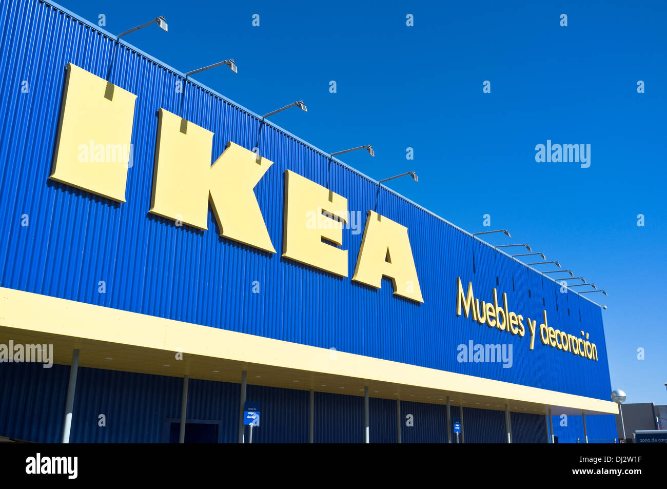 dh ikea superstore europe ikea shop front sign arrecife lanzarote stock photo royalty free. Black Bedroom Furniture Sets. Home Design Ideas