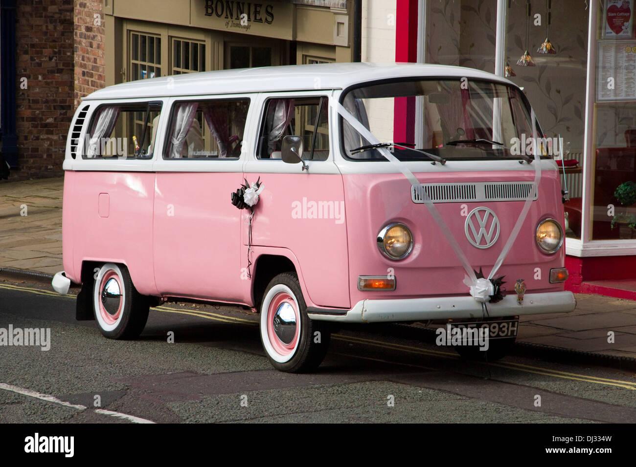 1970 Pink And White Bay Window Vw Campervan In Service As