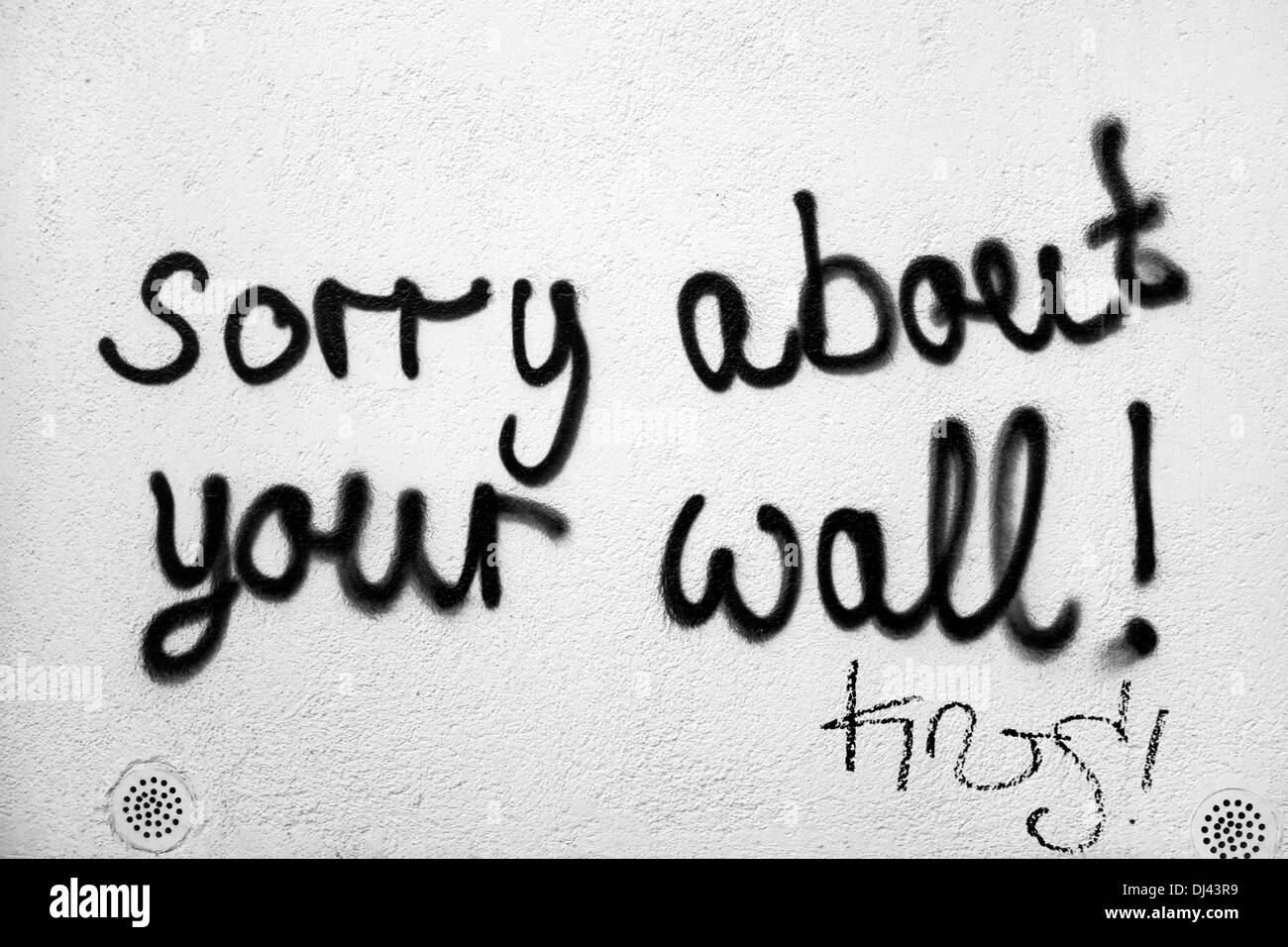 Your graffiti wall - Graffiti On Wall Sorry About Your Wall