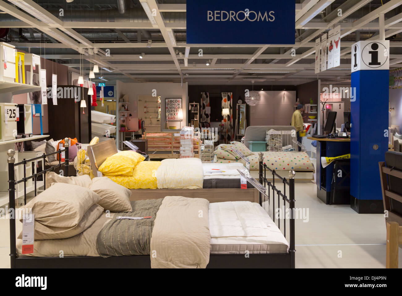 Ikea Shops London Of Bedroom Department Ikea Edmonton London Stock Photo