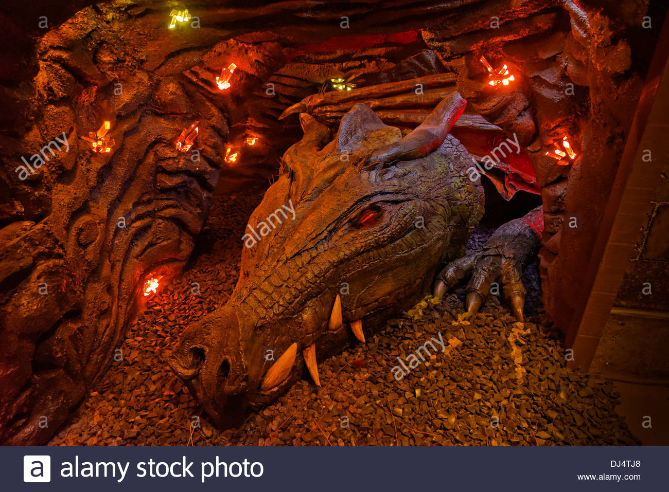 Animatronic Dragonnamed Amalinda Experience Music Project EMP - Music museums in usa