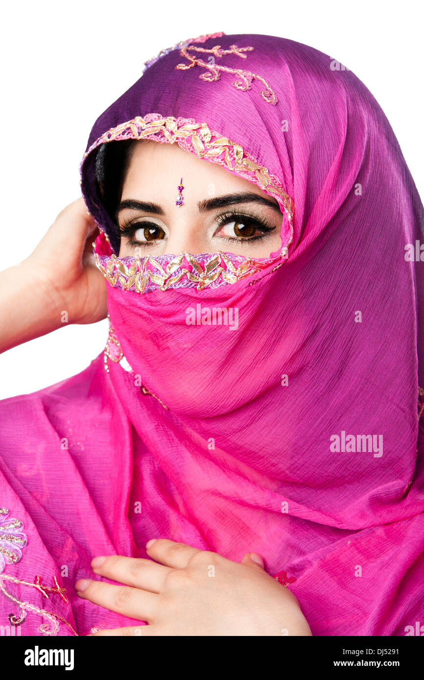 Indian Hindu Woman With Headscarf Stock Photo Royalty