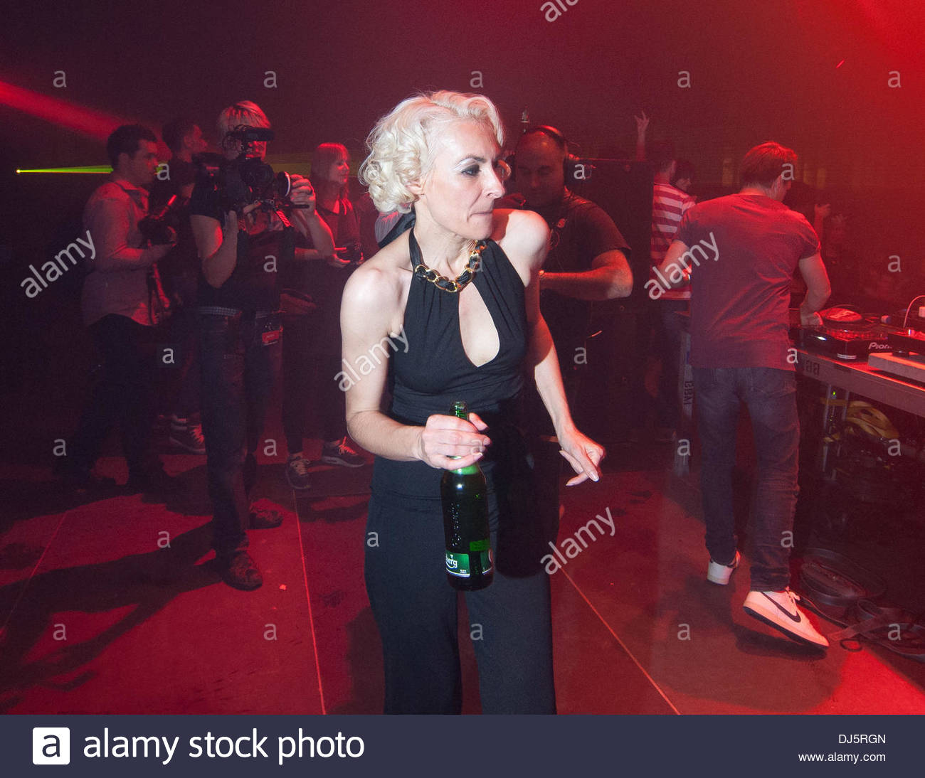 dj marusha at the turntables a und p berlin summer rave at airport stock photo royalty free. Black Bedroom Furniture Sets. Home Design Ideas