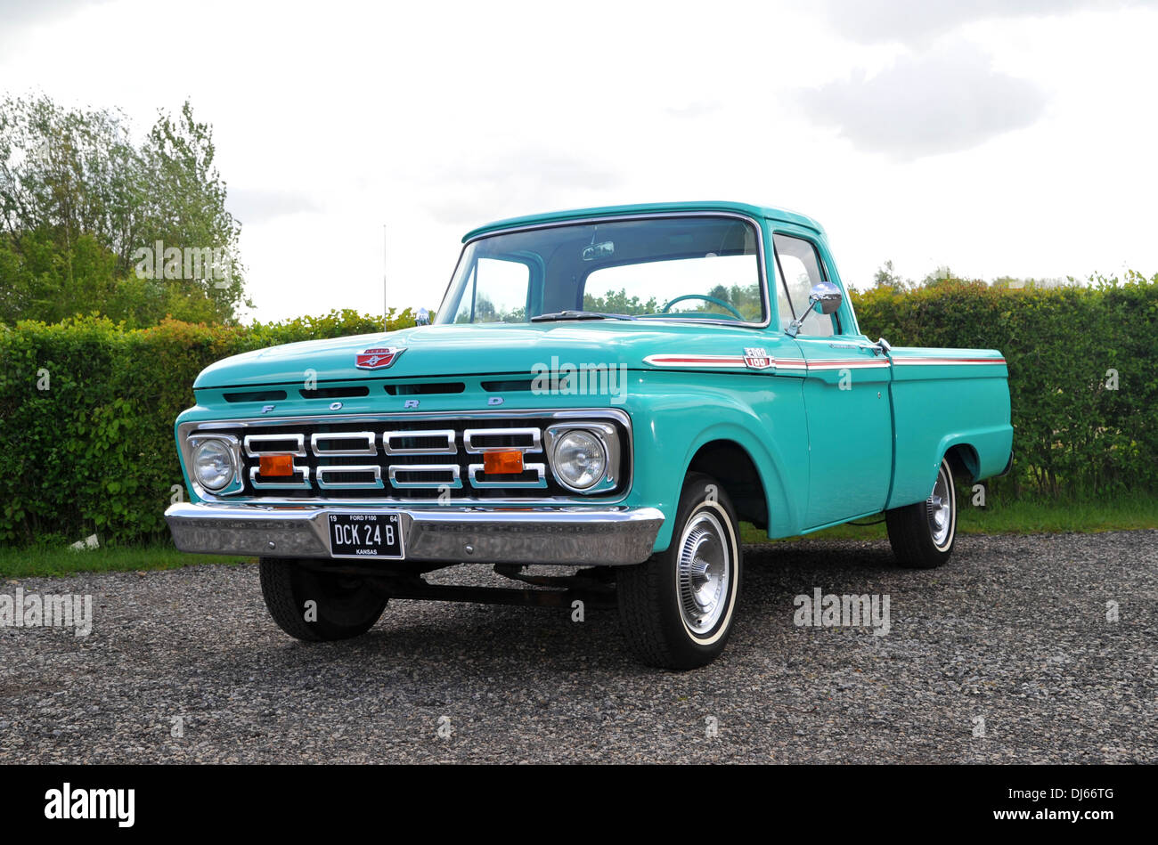 1964 ford f100 classic american pick up truck stock photo royalty free image 62832016 alamy. Black Bedroom Furniture Sets. Home Design Ideas