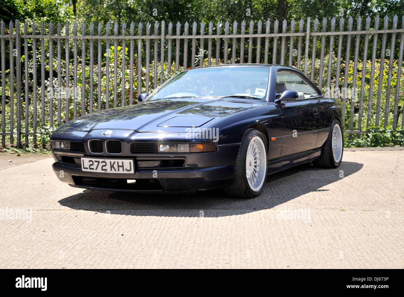 1993 bmw 850i german v8 super coupe now a classic car stock photo royalty free image 62832218. Black Bedroom Furniture Sets. Home Design Ideas