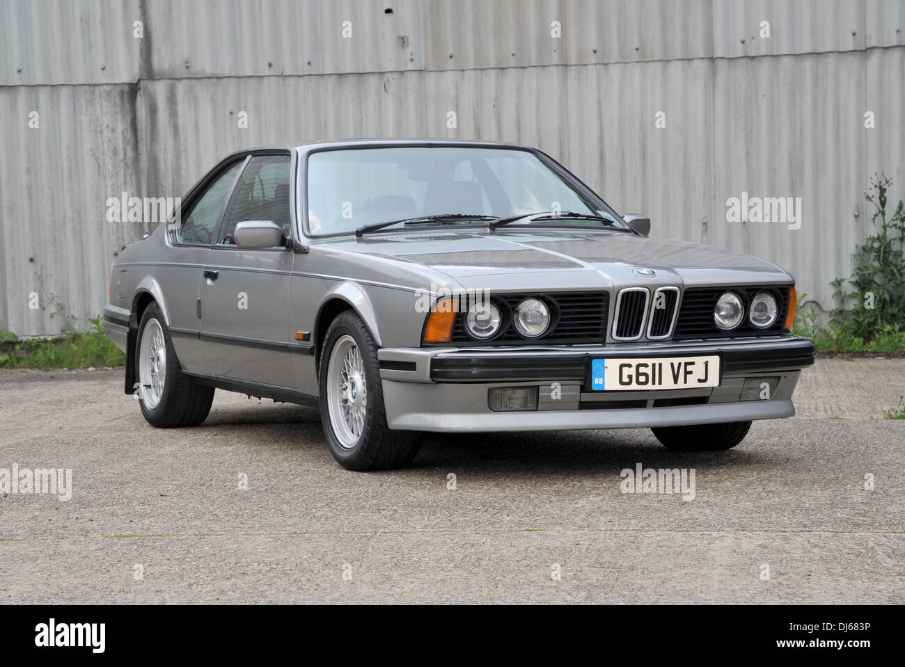 1990 bmw 635 csi classic german sports coupe car stock photo royalty free image 62833002 alamy. Black Bedroom Furniture Sets. Home Design Ideas
