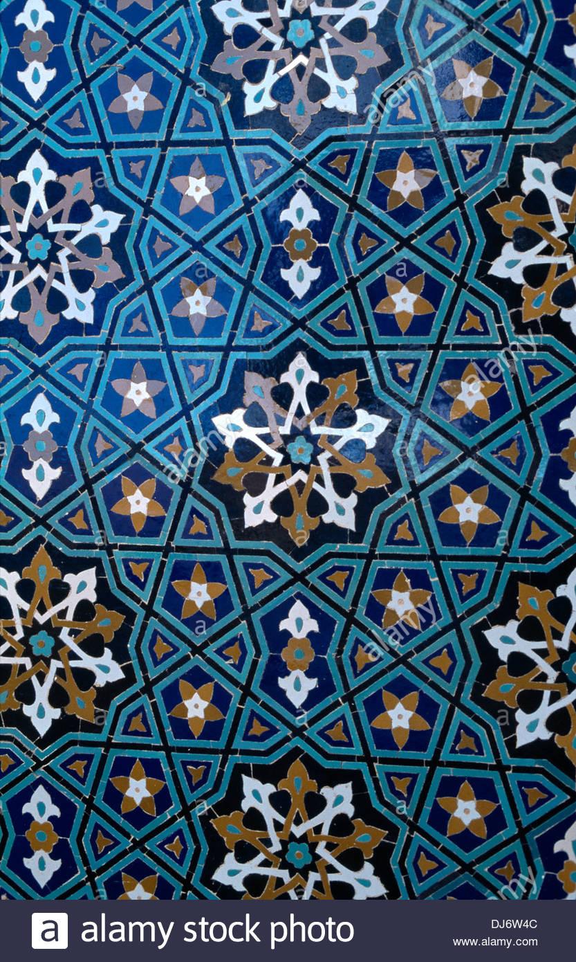 Kerman Iran Masjid E Jame Friday Mosque Glazed Tile