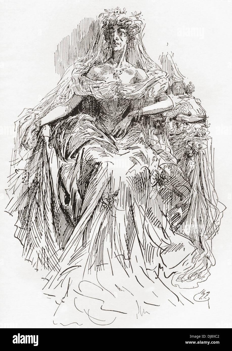 Miss Havisham. Illustration by Harry Furniss from the ...