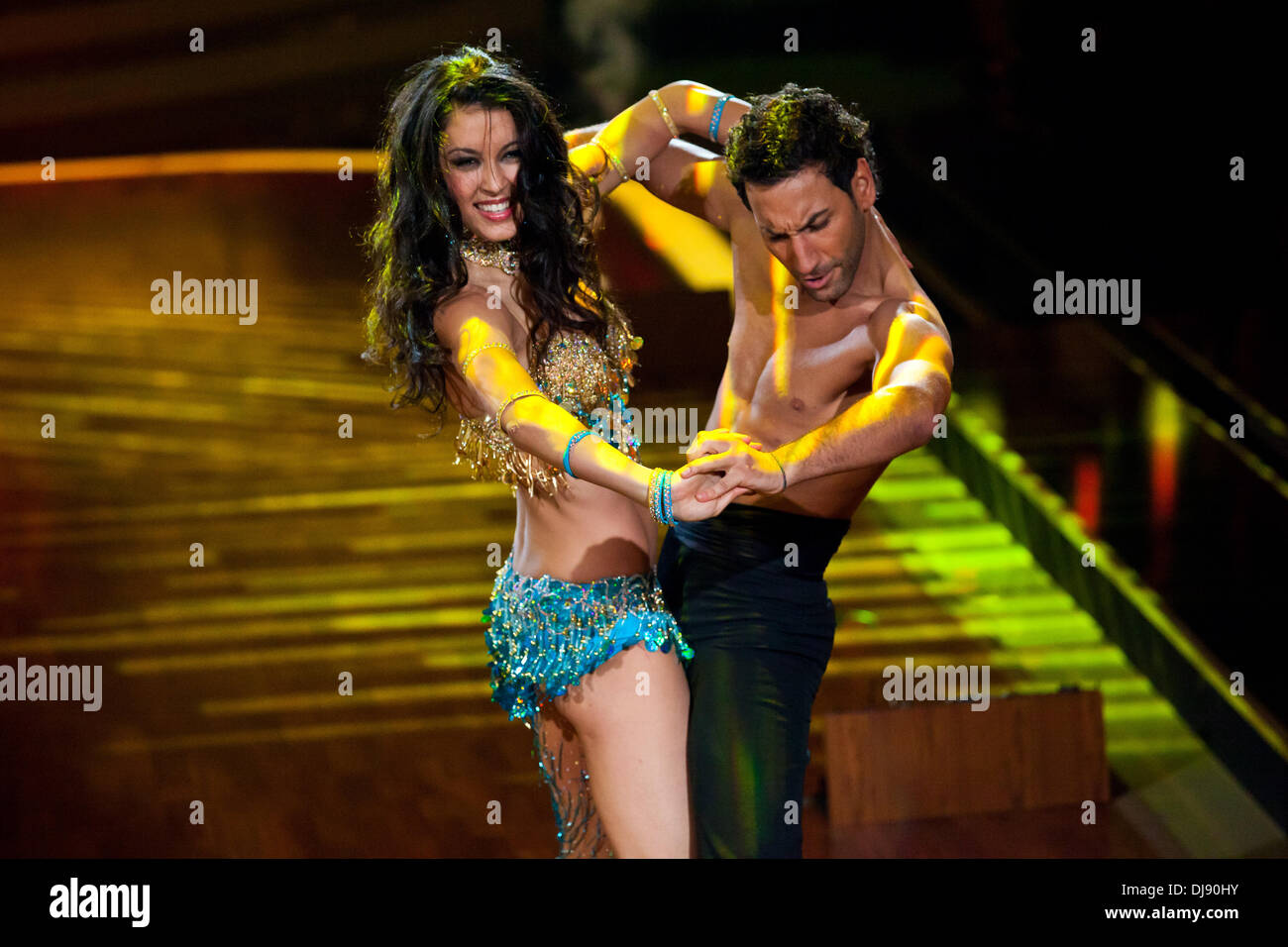 rebecca mir and massimo sinato at the grand finale of german rtl tv show let s dance at coloneum tv studios cologne germany 23 05 2012