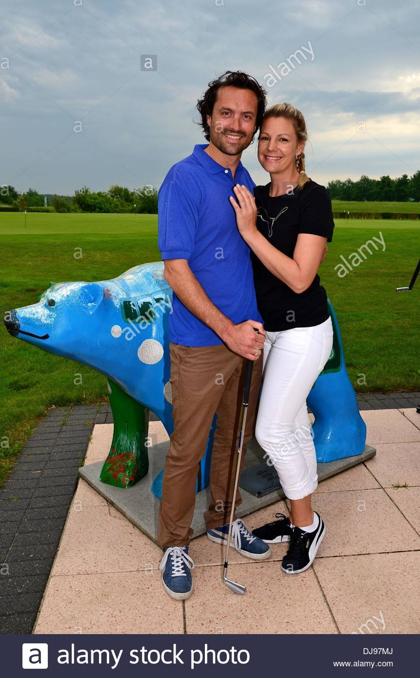 sophie schuett and boyfriend felix seitz at bmw golf cup at golf and stock photo royalty free. Black Bedroom Furniture Sets. Home Design Ideas