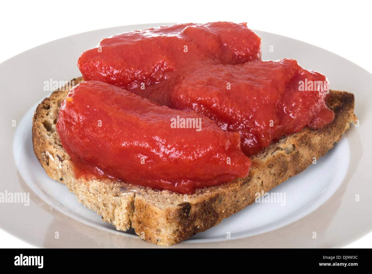 Tomatoes On Toast Recipe — Dishmaps