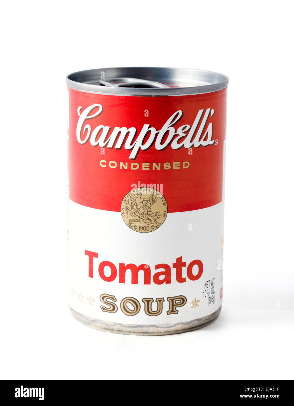 can of campbell 39 s condensed tomato soup usa stock photo royalty free image 62918402 alamy. Black Bedroom Furniture Sets. Home Design Ideas