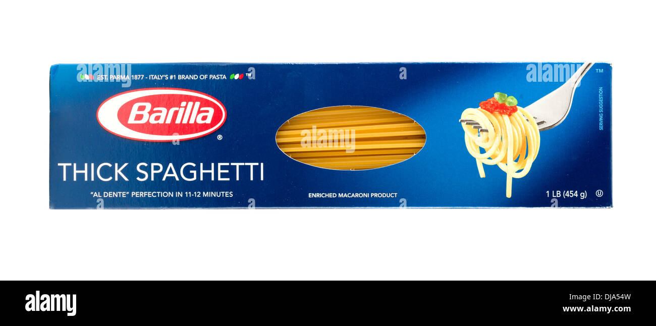 barilla stock photos barilla stock images alamy packet of barilla thick spaghetti usa stock image