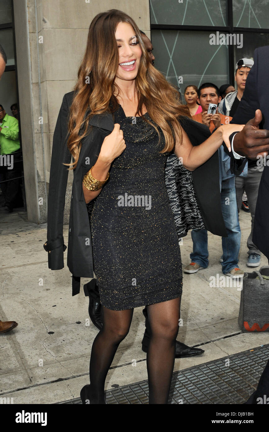 sofia vergara arrives at the kmart on astor place to promote her fashion and home collection new york city usa