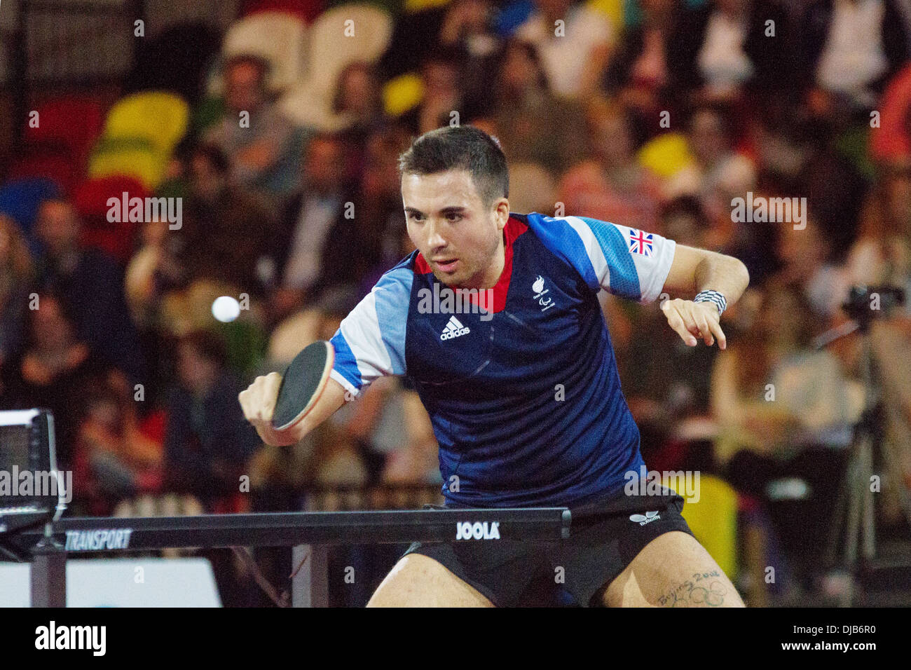 Will Bayley Of GB V Brazil In The Table Tennis At National