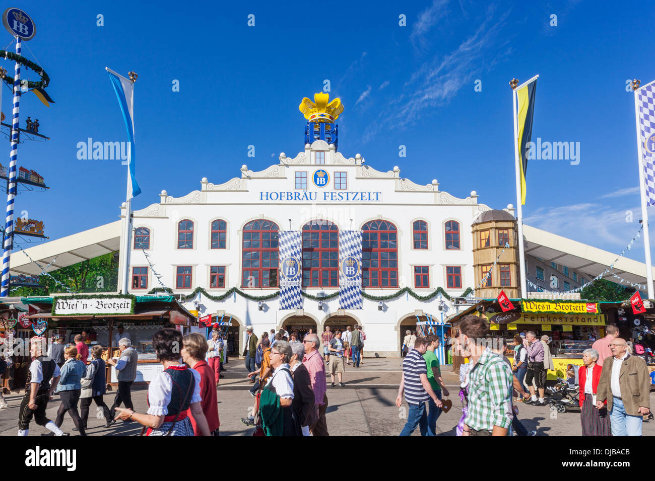 Germany Bavaria Munich Oktoberfest Hofbrauhaus Beer Tent & Germany Bavaria Munich Oktoberfest Hofbrauhaus Beer Tent Stock ...