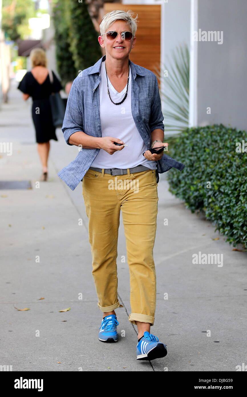 Ellen Degeneres Blue Shoes