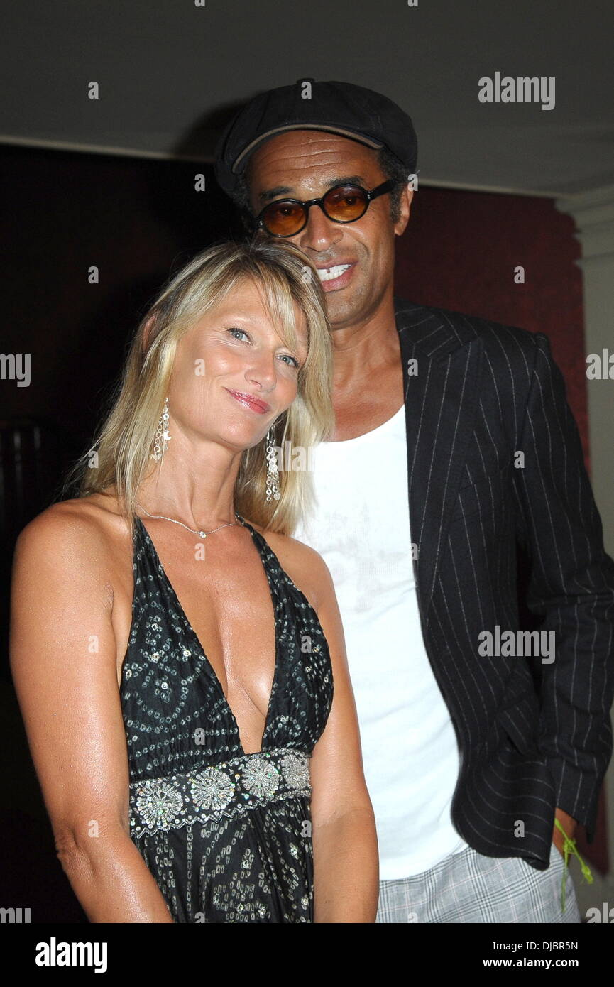 Yannick Noah wife Isabelle Noah George Michael perforrms during