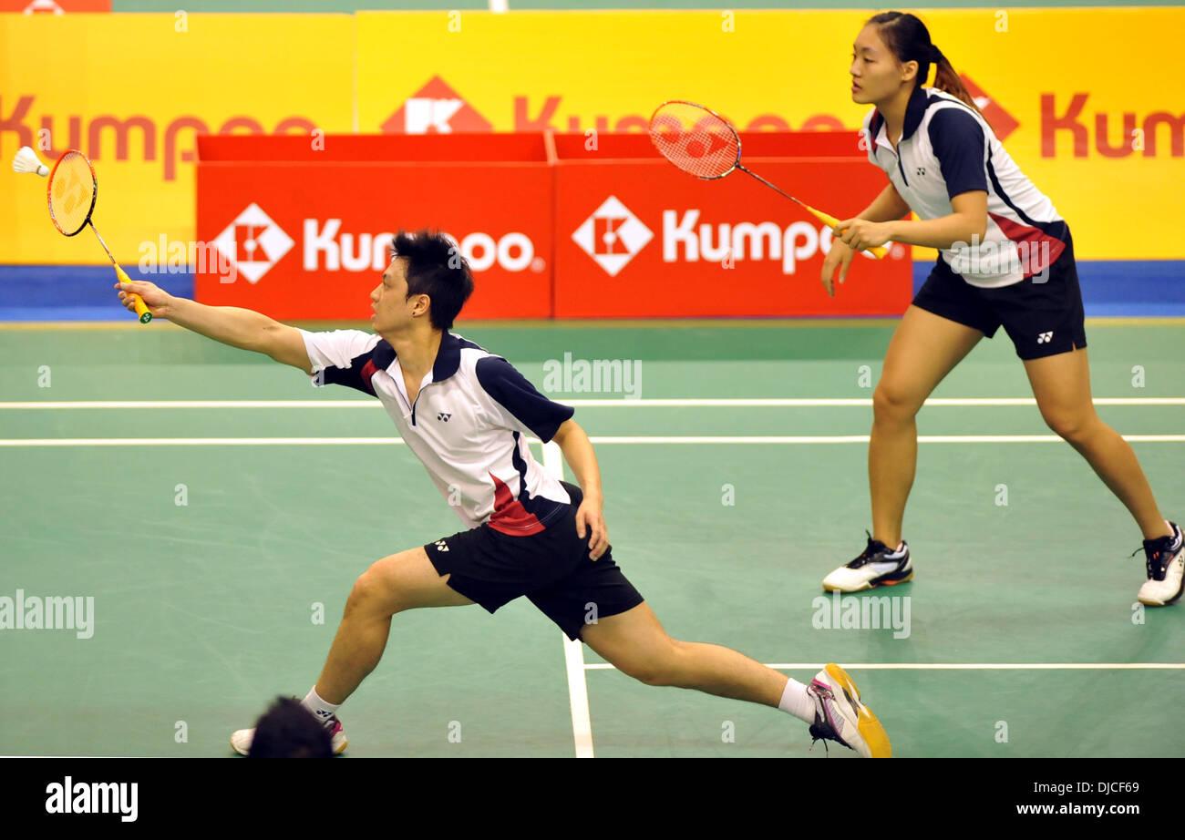 Macao China 27th Nov 2013 Chan Yun Lung and Tse Ying Suet R