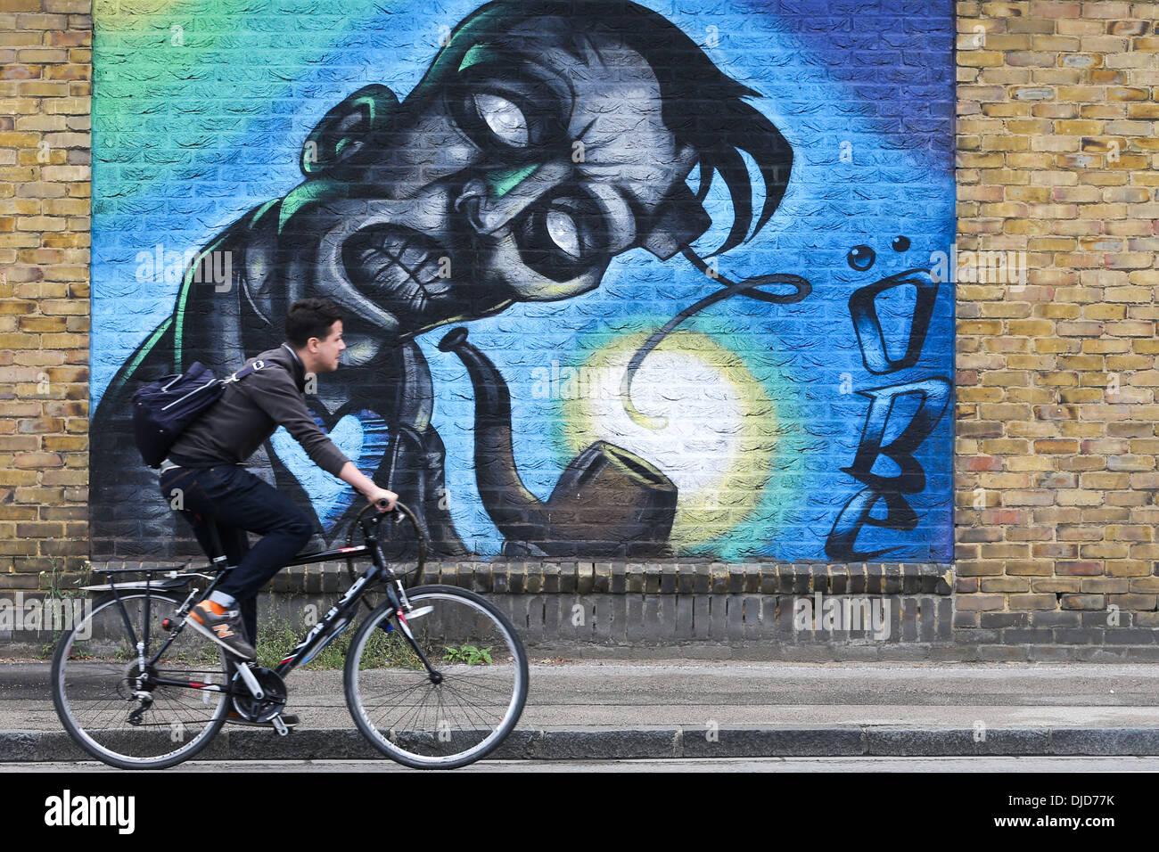 Graffiti wall cambridge - Graffiti On A Wall In Cambridge