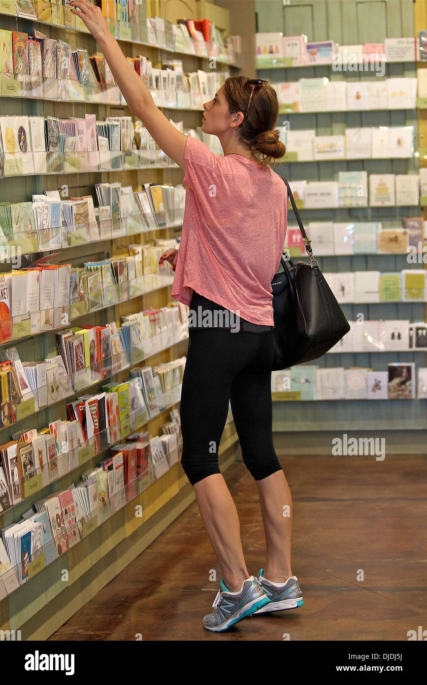 Ashley Greene seen at a card store for some wrapping paper and a – Birthday Card Store