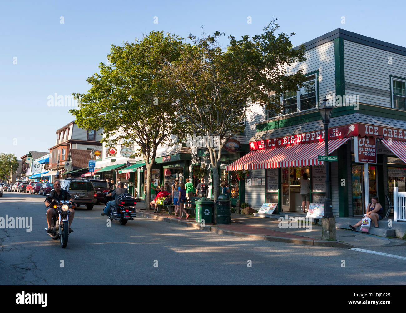 Downtown Bar Harbor, Maine Stock Photo: 63011709 - Alamy