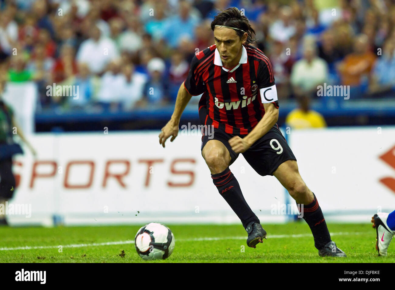 AC Milan s forward Filippo Inzaghi 9 in game action during play