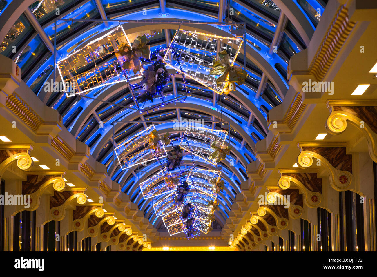 Christmas decorations at the Trafford Centre in Manchester ...